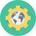 browser, cog, globe, internet, setting icon
