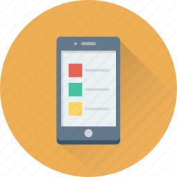 checklist, layout, mobile, mobile layout, wireframe icon