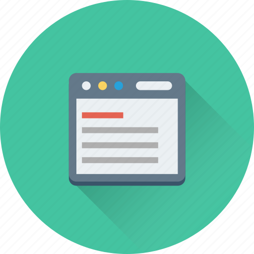 article, online article, text, web, webpage icon