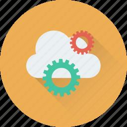 cloud computing, cloud settings, cloud storage, cog, icloud icon