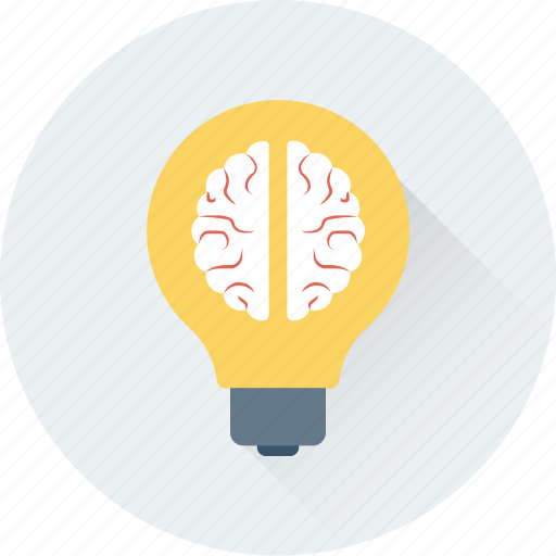 brain, bulb, creative mind, creativity, idea icon