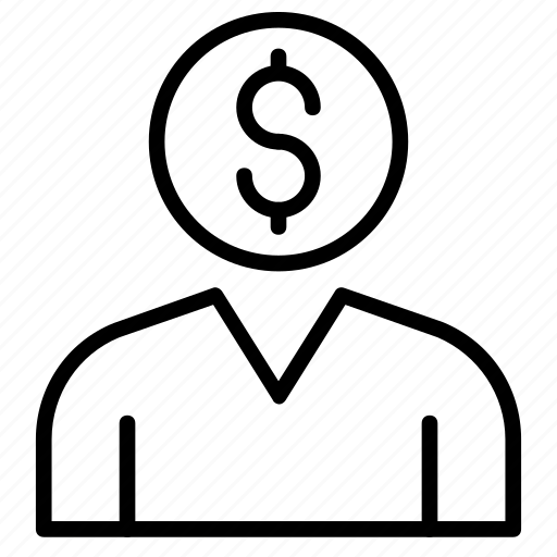 account, dollar, money, profile, user icon
