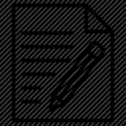 create, document, edit, file, sign icon