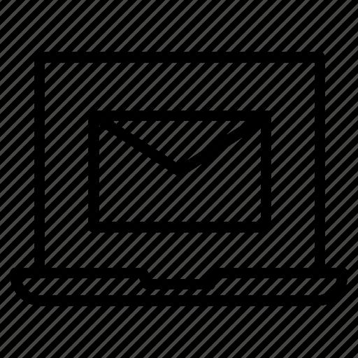 Email, envelope, inbox, laptop, message icon - Download on Iconfinder