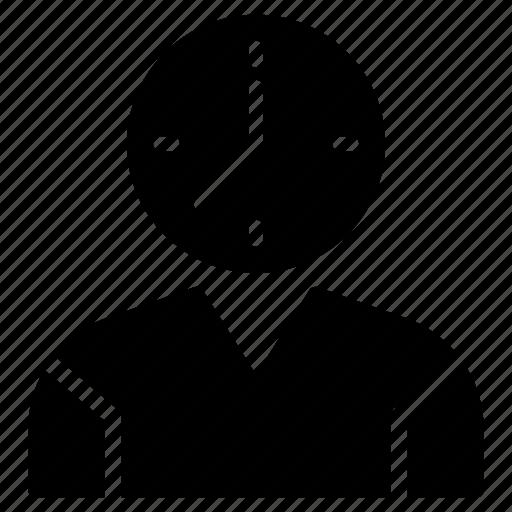 avatar, clock, management, profile, user icon