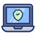 computer antivirus, computer software, protected system, secure system, system antivirus icon