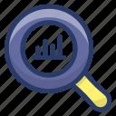 analytics, barchart report, growth analysis, market research, statistical analysis, statistics data icon