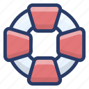 life belt, life preserver, life saver, lifebuoy, lifeguard icon