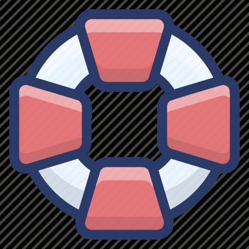 life belt, life preserver, life saver, lifebuoy, lifeguard icon