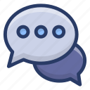 communication, debate, dialogue, online chat, speech icon