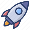 business launch, missile, project launch, rocket, startup, torpedo icon
