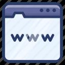 internet, web, web page, website, world wide web, www icon