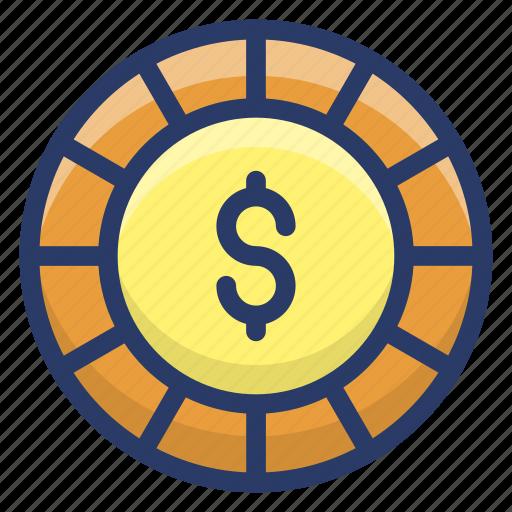 asset, coin, dollar coin, gold coin, money icon