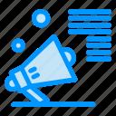 advertising, marketing, megaphone, promote, speaker icon