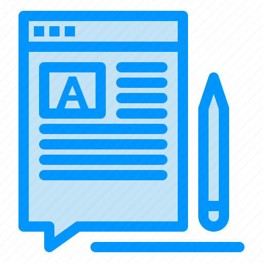article, blog, edit, web, write icon