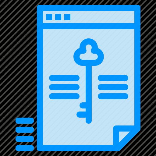 data, file, key, lock, secure icon