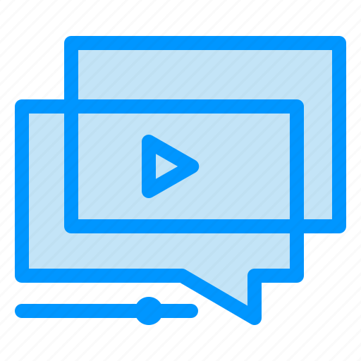 play, presentation, tutorial, video, youtube icon