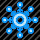 arrow, connect, network, presentation, team icon