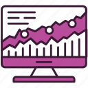 analytics, business, chart, computer, graph, marketing, statistics icon