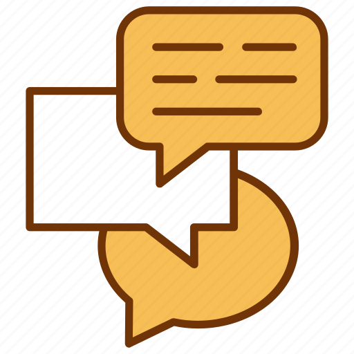 chat, communication, conversation, discussion, interaction, message, talk icon