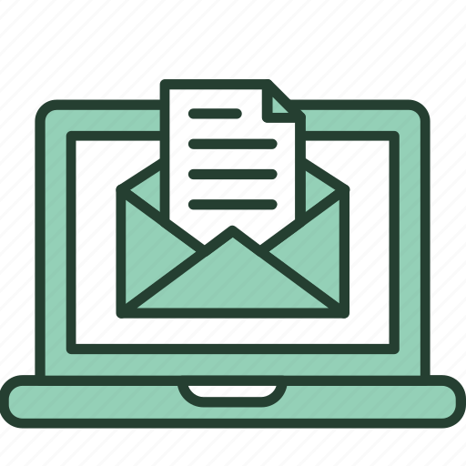computer, email, feed, letter, marketing, message, newsletter icon