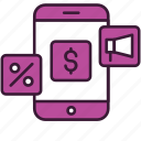 ad, app, ecommerce, marketing, mobile, offer, smartphone icon