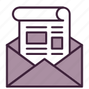 email, feed, message, newsletter, newspaper, open, read icon