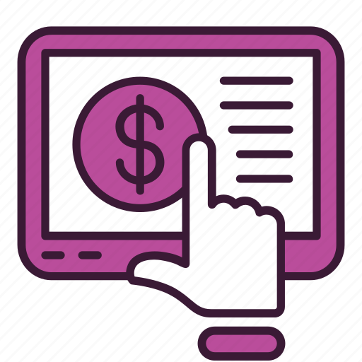 click, ecommerce, marketing, mobile, pay, per, ppc icon