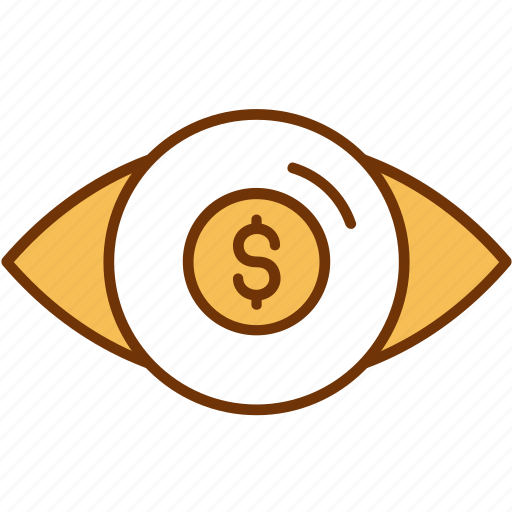 business, conversion, ecommerce, marketing, money, profit, vision icon
