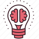 brain, bulb, content, creative, idea, management, marketing icon