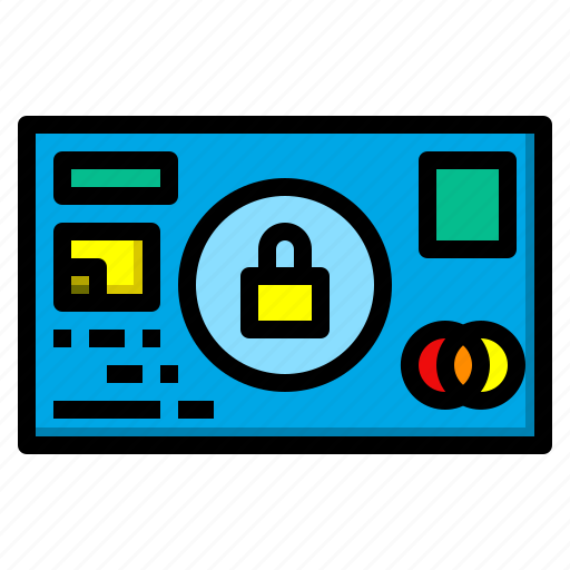 card, credit, digital, maketing, safety, security icon