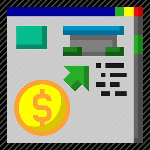 advertising, cash, content, digital, maketing, money icon