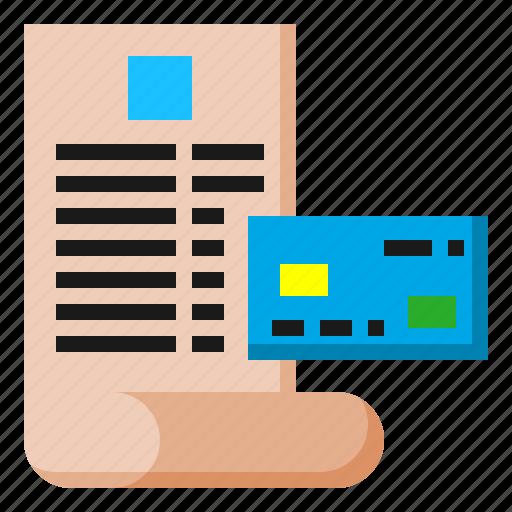bill, card, cash, credit, digital, maketing icon