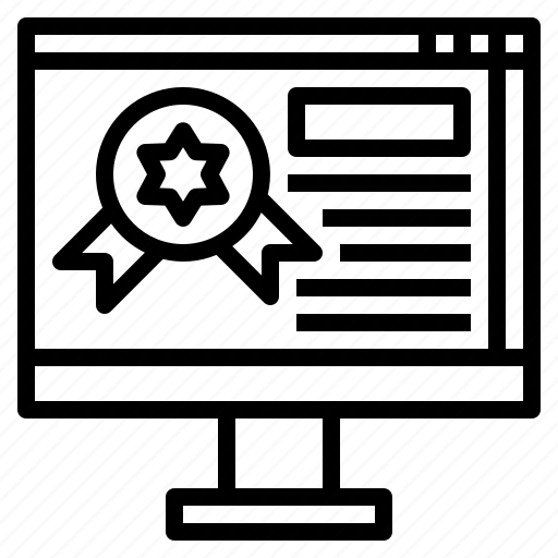 certifate, digital, guarantee, maketing icon