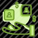 account, analyst, data, digital, dollar, finance, selling icon