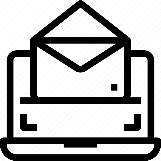 communication, digital, email, laptop, letter, mail, marketing icon