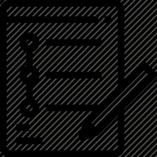 business, content, list, management, paper, planning, wishlist icon