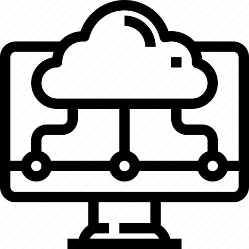 cloud, computer, connect, device, network, storage icon