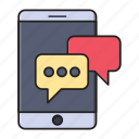 chat, conversation, mobile, phone, support