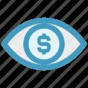 digital marketing, dollar, dollar sign, eye, view, vision