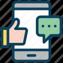 digital, marketing, mobile, communication, like, chat, message