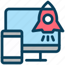 digital, marketing, mobile, startup, launch, rocket