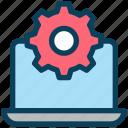 digital, marketing, laptop, setting, process, gear