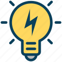digital, marketing, bulb, idea, light, storm