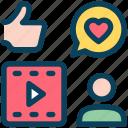 digital, marketing, social media, account, feedback, video