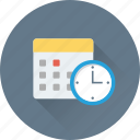 appointment, calendar, clock, date, schedule icon