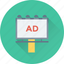 ad, advertisement, billboard, marketing, signboard icon
