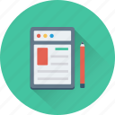 article, compose, pen, web, website icon