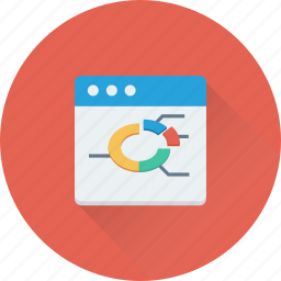 graph, infographic, online graph, web, website icon