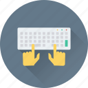 developing, keyboard, programming, typing, typist icon